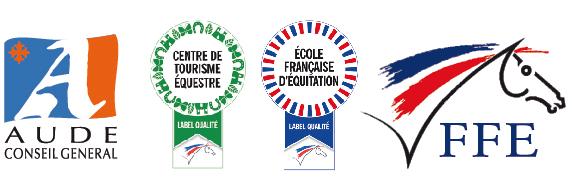 Département de l'Aude centre de tourisme équestre, école française d'équitation, fédération française d'équitation, label qualité cheval poney