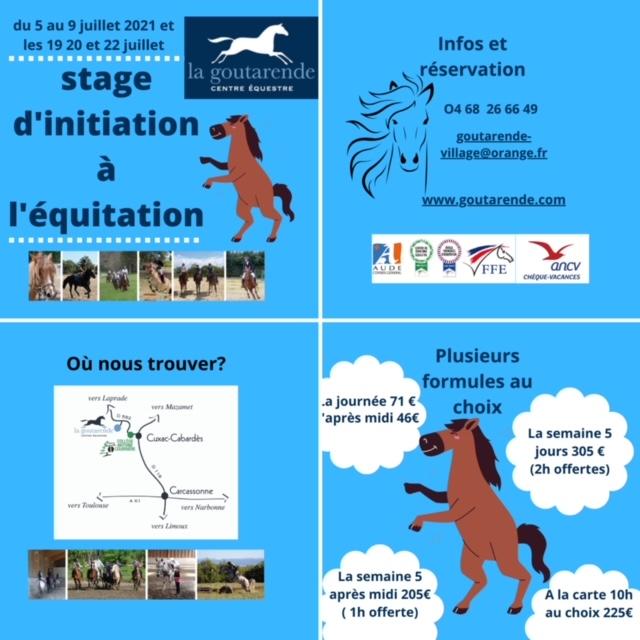 Stage initiation équitation carcassonne